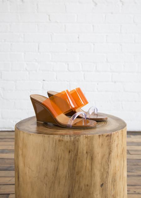 Maryam Nassir Zadeh Olympia Wedge Bark/Orange
