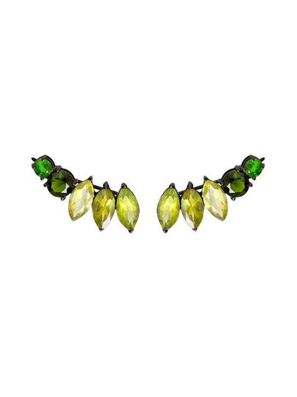 Diaboli Kill Isadora Green Ear Pins