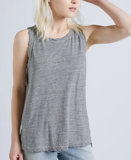 The Muscle Tee in Racer Stripe