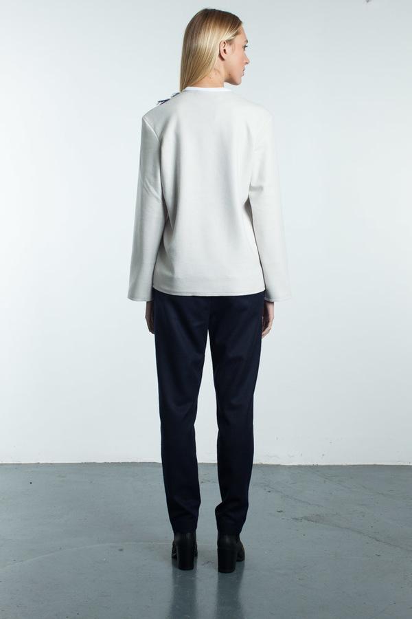 Steven Tai Long Sleeve Shirt With Fringe