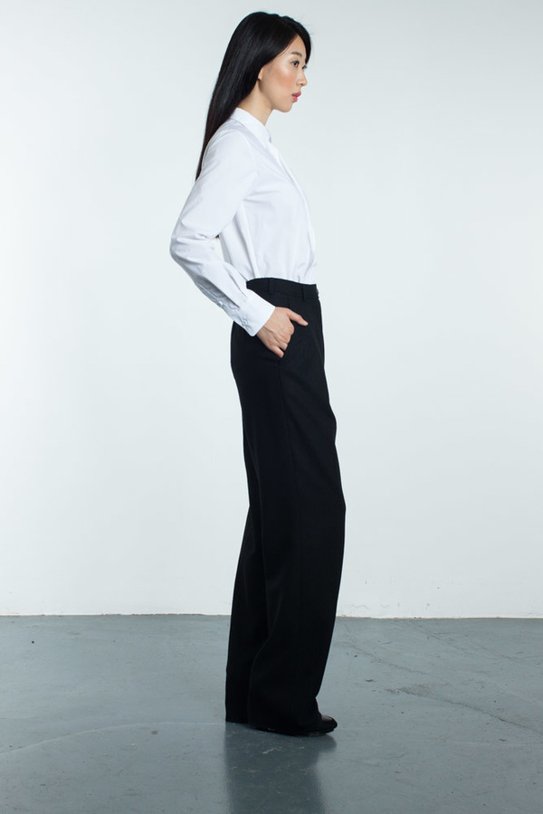 Tia Cibani Classic Shirt With Asymmetric Extension