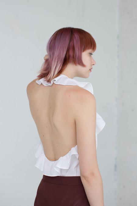 Ulla Johnson Mariana Blouse in Blanc