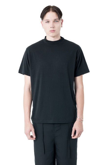 Chapter Rol S/S Mock Tee | Black