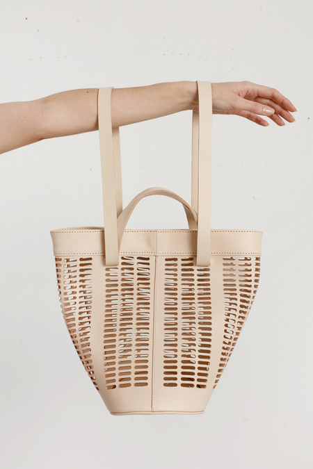 Unknown Modern Weaving - Basket Tote - Nude