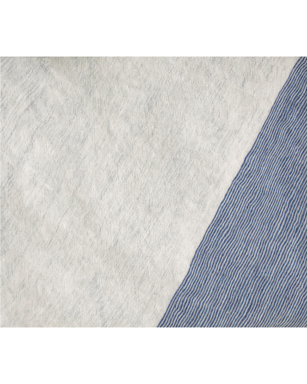 Grisal Sabbia 100% Ramie Duo Scarf in Hickory + Milk