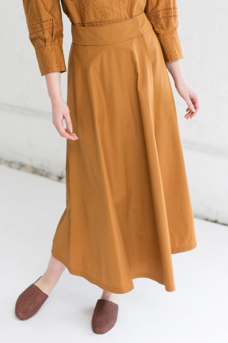 Veronique Leroy Open Front Skirt in Rust