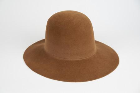 Clyde Wide Brim Dome Hat in Brandy Angora