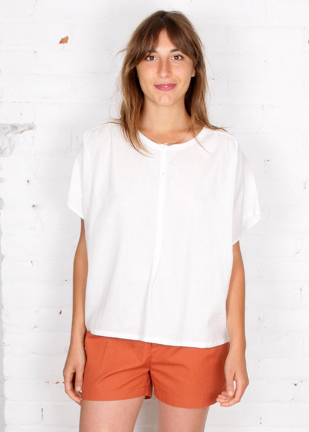 Gravel & Gold Ada Top - White