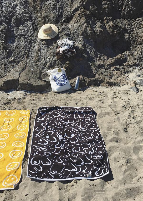 Gravel & Gold Boobs Towel
