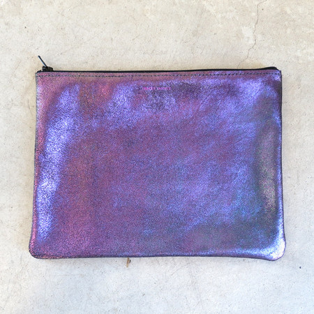 Tracey Tanner Large Flat Zip Pouch in Slick Sparkle
