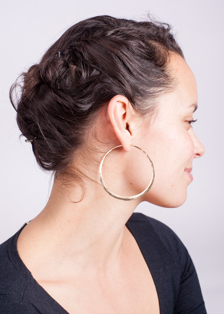 Point Reyes Jeweler Gold Hoop Earrings - Jumbo