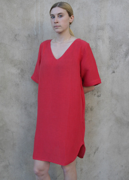 Gravel & Gold Vallauris Dress - Tomato