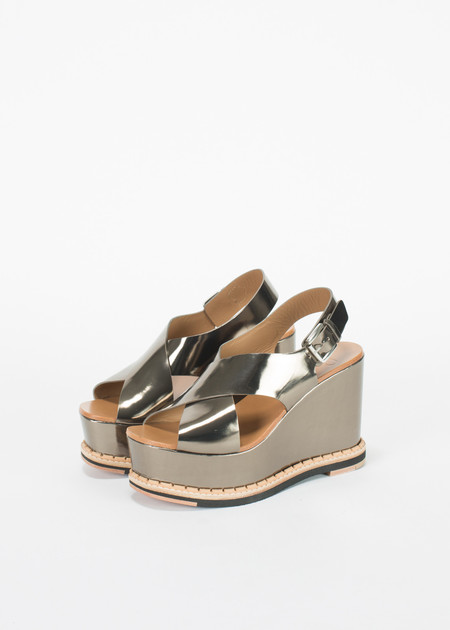 Flamingos Trendy Metallic Wedge Sandal