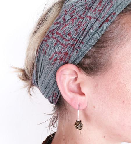 Arielle De Pinto Hook Bead Earrings in Burnt Gold