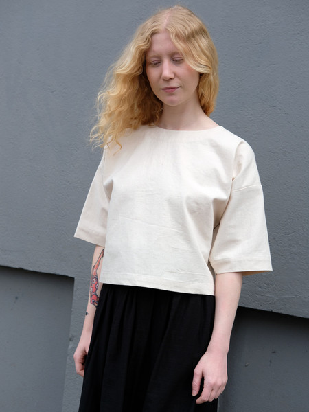 Caron Callahan WALSH TOP IN JAPANESE COTTON CANVAS