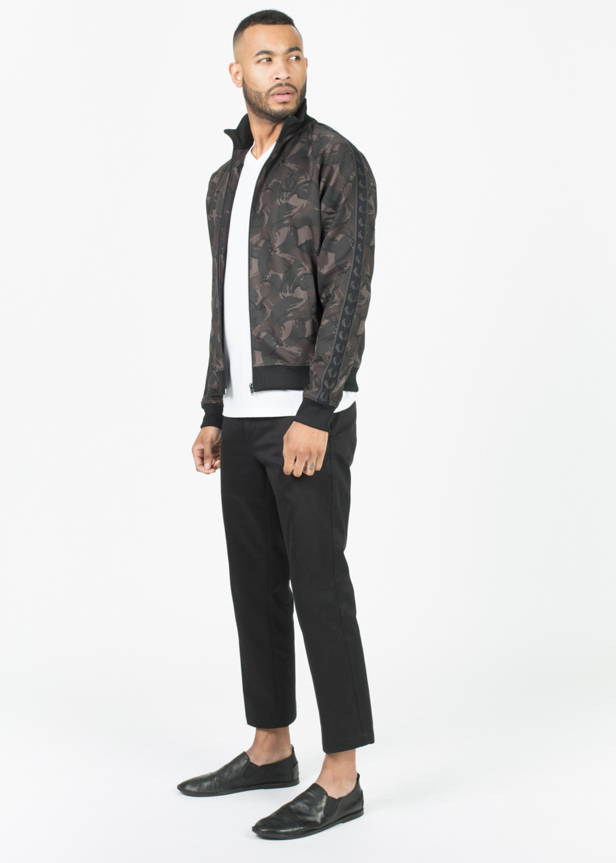 fred perry camo print track jacket garmentory. Black Bedroom Furniture Sets. Home Design Ideas