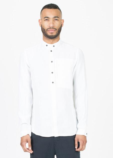 Hannes Roether Mandarin Collar Button-Up Shirt