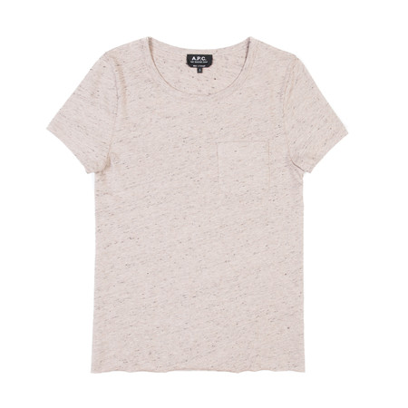 A.P.C. T-Shirt Lauren - Beige Rose