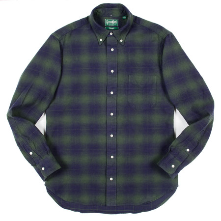 Gitman Vintage Gitman Button-Down Shirt - Indigo Olive Flannel