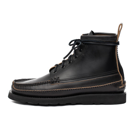 Yuketen Maine Guide 6 Eye DB Boots - Black Chromexcel