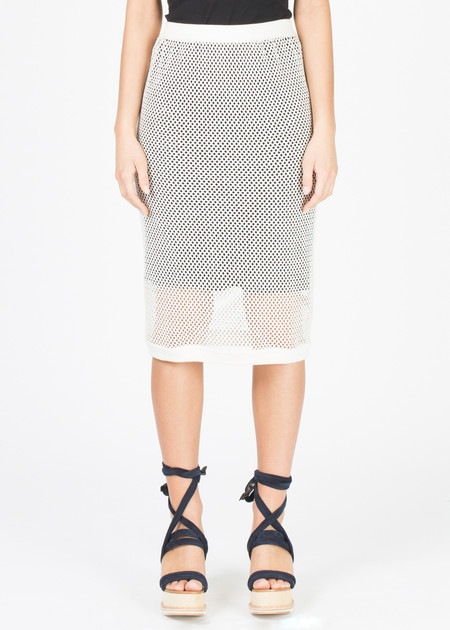 A Détacher Marigold Mesh Skirt