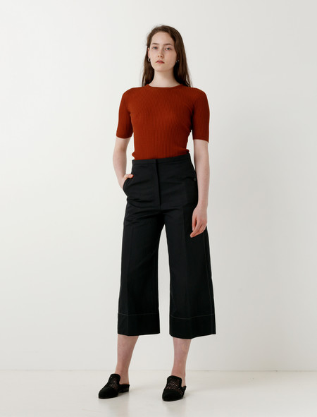 Lemaire Large Pants Crop Twill