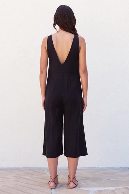 First Rite Crop Pantsuit Black