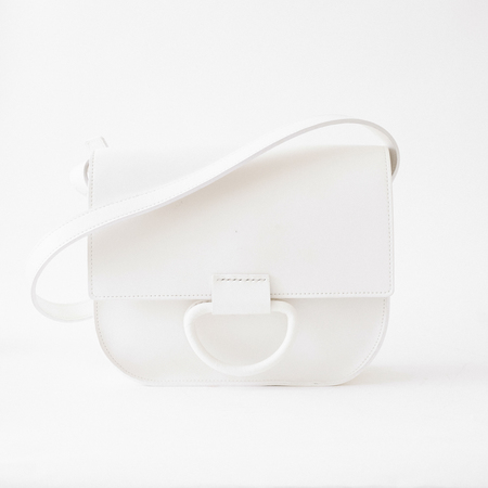 Crescioni logan bag white