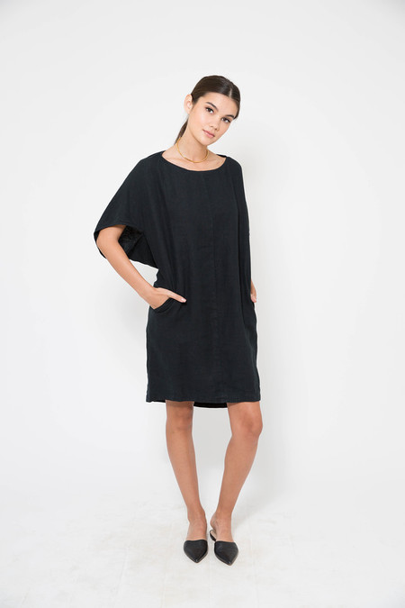 Black Crane Geometric Dress