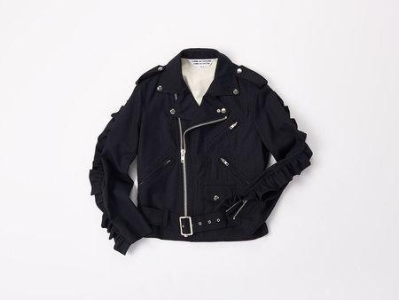 Comme des Garçons Pinstripe Moto Jacket