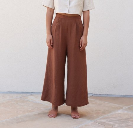 First Rite Cropped Culotte - Clay