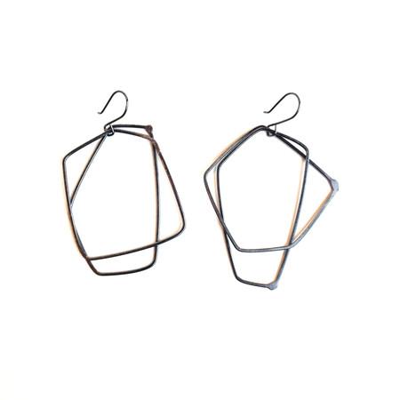 Gabrielle Desmarais Double Oxidized Element Earrings