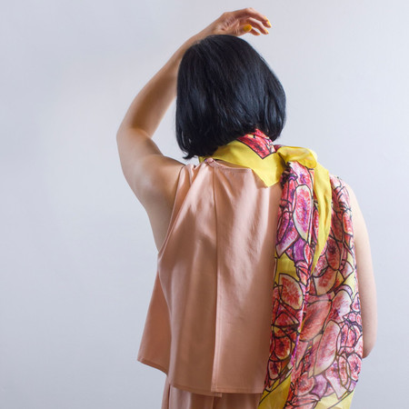 Anu Raina - consignment 'Fig Jam Scarf'
