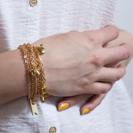 Marijke Bouchier Golden Teardrops Bracelet