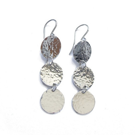 Jessie Phoenix 'Triple Disc Dangle Earrings'