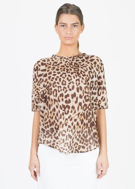 Sibel Saral Semi-Sheer Leopard Top