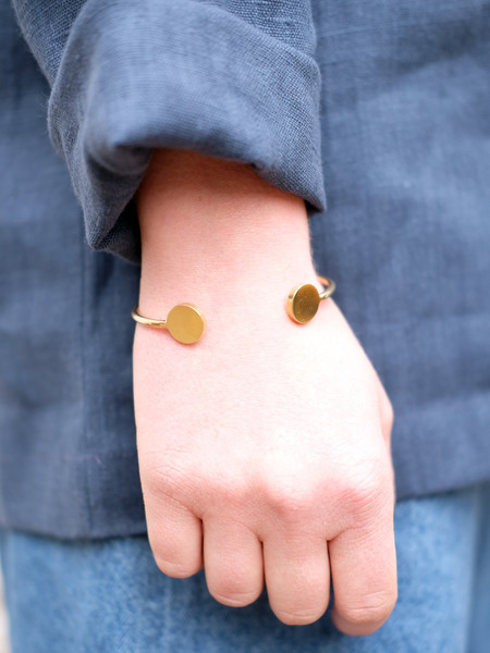 Another Feather CIRQUE CUFF IN BRASS