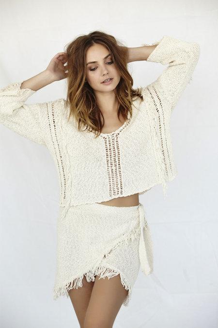 Callahan Fringe Crop Sweater