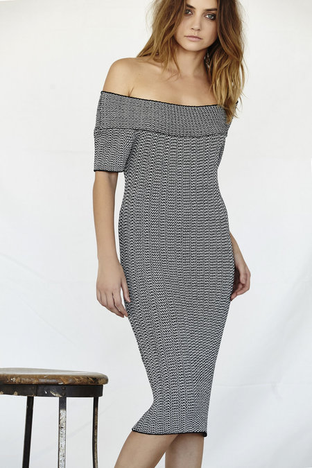 Callahan Stripe Off The Shoulder Dress