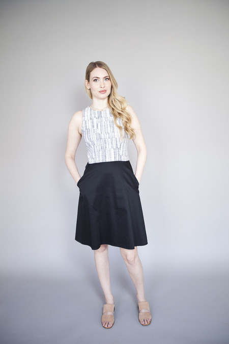 Jennifer Glasgow – Mystic Dress Black and White Lines