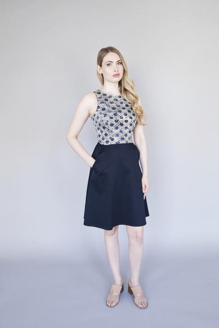 Jennifer Glasgow – Mystic Dress Navy with Batik
