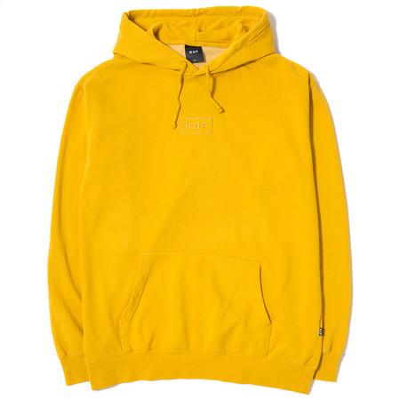 HUF Overdyed Bar Logo Pullover Hoody / Mustard