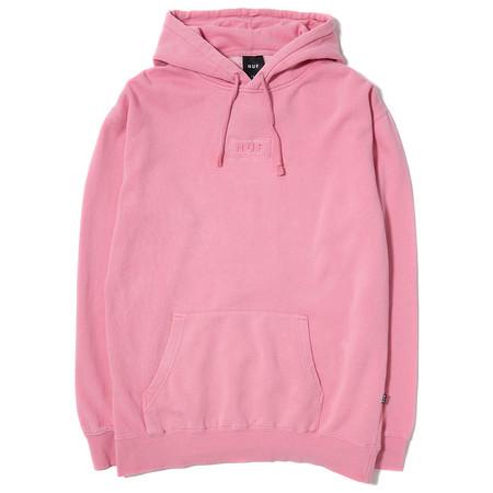 HUF Overdyed Bar Logo Pullover Hoody / Pink