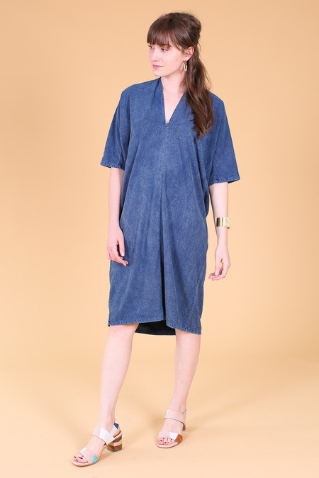 Miranda Bennett Muse dress in dark indigo