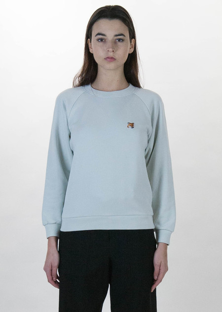 Maison Kitsune Grey Fox Head Patch Sweatshirt