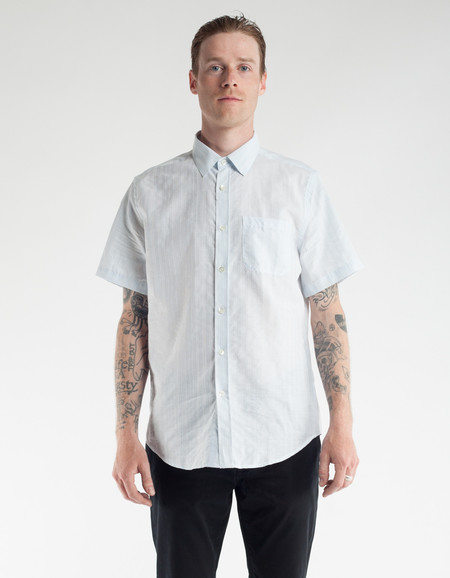 Portuguese Flannel Colonial Short Sleeve Shirt Sky