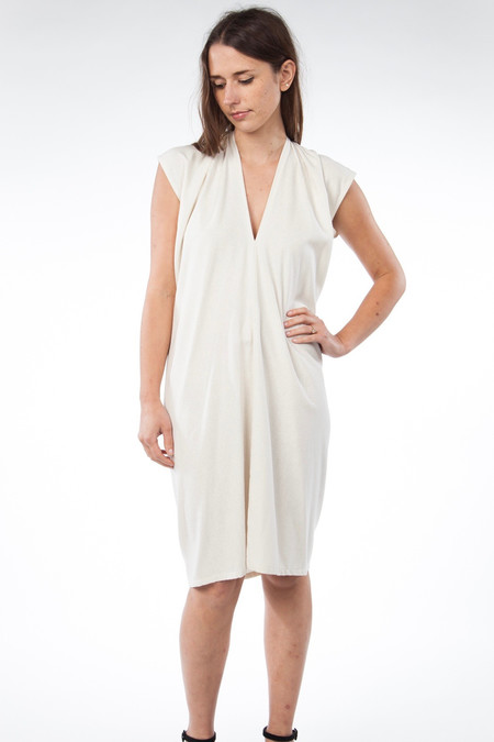 Miranda Bennett Everyday Dress, Silk Noil in Natural