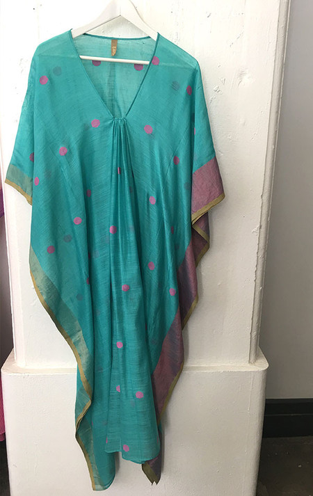 Two Turquoise dot caftan