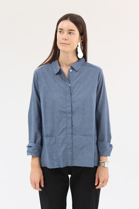 Kowtow Cloudless Shirt Blue Chambray