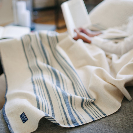 Faribault Weekender Stripe Wool Throw